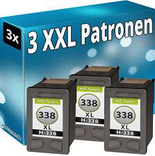 3x TINTE PATRONEN für HP 338 XL PSC1500 PSC1510 PSC1600 PSC1610 PSC2355 PSC2610