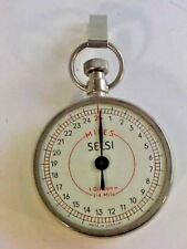 Selsi Pedometer Made in Germany 1 Division=1/4 Mile 1 3/4 Inch Diameter Working