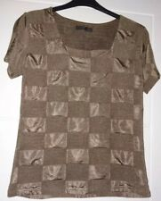 Just Elegance Brown Short Sleeve Top Size 16