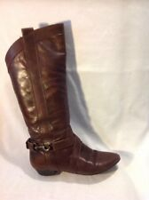 Aldo Brown Knee High Leather Boots Size 36