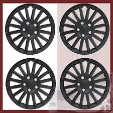"""14"""" 15"""" Black Hubcaps Rim Wheel Covers Hub Cap Set New"""