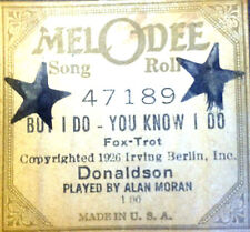 """MELoDEE Song Roll """"BUT I DO-YOU KNOW I DO"""" 47189 Alan Moran Player Piano Roll"""