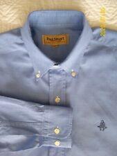 Paul Stuart Blue Micro Check Made in USA Long Sleeve Mens Shirt Size L