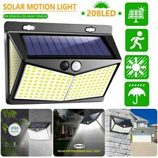 208 LED Solar Lamp Power Light PIR Motion Sensor Outdoor Wall Waterproof Garden