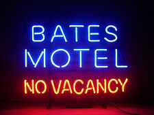 "BATES MOTEL NO VACANCY Neon Light Signs Beer Bar Pub Club Man Cave Light 17""x14"""