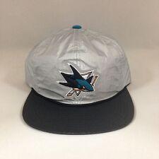 San Jose Sharks Snapback Hat Mitchell Ness Tyvek 2 Tone Adjustable Cap NHL