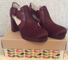 Orla Kiely Clarks Dilly buey sangre zapatos talla 3, 35.5 euros