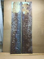 """2 pc 48"""" x 9.5"""" Flat Antique Ceiling Tin Vintage Reclaimed Salvage Art Craft"""