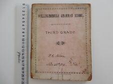 RARE 1892 WELLINGBOROUGH GRAMMAR SCHOOL/NOW WELLINGBOROUGH SCHOOL EXERCISE BOOK
