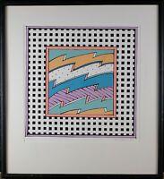 Framed VTG Lithograph Print, Signed Vintage Print, Original Vintage Serigraph