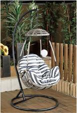 Outdoor Furniture Wicker Hanging Seat Swing Chairs Rattan Eggs Hammock  Garden