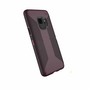 Speck Presidio Grip Samsung Galaxy S9 Case, Fig Purple/Ochre Black