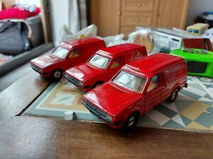 Corgi Ford Escort Royal Mail Vans ×3