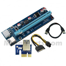 NEW 6-Pack PCI-E 16x to 1x Powered Riser 6 pin PCIe and SATA Version 6c