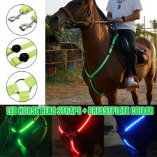 LED Luminous Horse Chest Belt Safe Horse Breastplate Gear Harness Outdoor