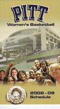 2008-09 UNIVERSITY OF PITTSBURGH PITT MEN'S/WOMEN'S BASKETBALL POCKET SCHEDULE