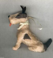 """TERRIER """"FUR"""" DOG 4.5"""" for ANTIQUE BLEUETTE FRENCH ALL BISQUE MIGNONETTE DOLL"""