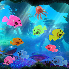 10x Aquarium Fish Tank Artificial Plastic Fake Floating Fish Pet Decor Ornament