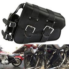 Motorrad Satteltasche Gepäck Reisetaschen Sattelleder für Harley Davidson Dyna