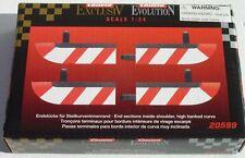 CARRERA 20599 END PCS INSIDE BANKED CURVE BORDER NEW 1/24 1/32 SLOT CAR TRACK