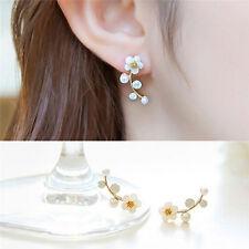 Hot Chic Lady Pearl Daisy Flowers Ear Cuff Earrings Studs*Earrings Jewelry M&C