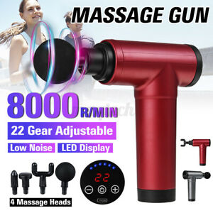 8000R/Min 22 Engrenages Muscle Thérapie Massage Pistolet Percussive Vibration 4