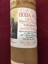 Jeremy Bulloch Autograph Boba Fett 20x30 Numbered Of 1,500 Star Wars Art Print