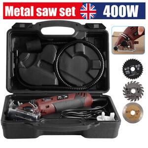 Mini Electric Multi Circular Saw Handheld Tool Wood Tile Metal 3 Blades Cleanly