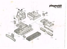 ANCIENNE NOTICE PLAYMOBIL