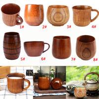 Holzbierkrug Becher aus Holz Krug Tasse Trinkbecher Bierbecher Holzbecher DE