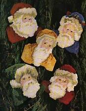 SANTA ORNAMENTS CHRISTMAS PLASTIC CANVAS PATTERN INSTRUCTIONS