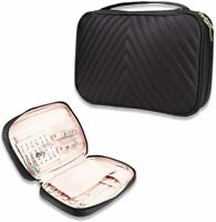 Luxury Travel Jewelry Organizer Soft Leather Traveling Case Storage Hand Bag New