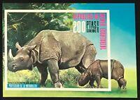 Equatorial Guinea #MiBl239 MNH S/S CVEUR8.50 Rhinoceros Rhinoceros unicornis