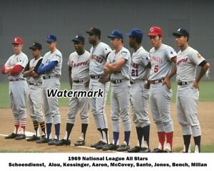 MLB 1969 National League Starting Line Up Color 8 X 10 Photo Picture