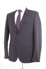 PETER WERTH BLACK PINSTRIPE RED BUTTONHOLE DETAIL MEN'S SUIT JACKET 40R