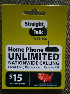 Straight Talk Wireless $15 Home Phone Reload Gift Card Free Shipping