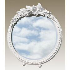 Farfalla Floreale BIANCO GESSO VERNICE cornice shabby chic tavolo rotondo Specchio Parete