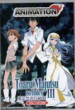 Anime DVD Toaru Majutsu No Index Season 3 Vol.1-26 End English Dubbed
