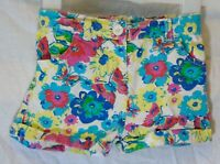 Baby Girls Matalan Pink Green Floral Butterfly Cotton Shorts Age 12-18 Months