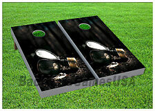 VINYL WRAPS Cornhole Boards DECALS Lumber Chainsaw Bag Toss Game Stickers 687
