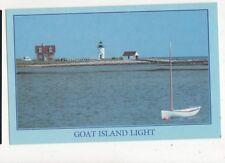 Goat Island Lighthouse Cape Porpoise Maine Postcard USA 403a ^