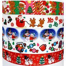 """Grosgrain Ribbon 7/8"""" ( 5 Yard Mixed Lot ) Christmas Holidays Printed"""
