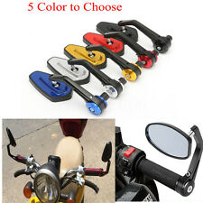 PAIR UNIVERSAL MOTORCYCLE MOTORBIKE BIKE SCOOTER REARVIEW 7/8'' BAR END MIRRORS