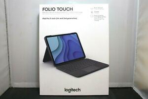 """Logitech Folio Touch Keyboard Case for Apple iPad Pro 11"""" 1st & 2nd Gen NIB LOOK"""