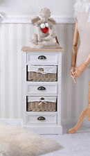 Vintage Dresser Rattan & Wood Wardrobe country style bathroom cabinet shabby