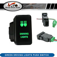 For Isuzu Dmax MUX 09-12 Colorado 08-12 Green Driving Light Bar Push Switch LED