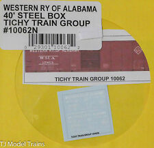 Tichy Train Group Decal #10062N Western RY of Alabama 40' Steel Box (N Scale)
