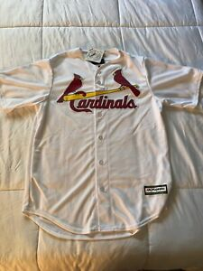 NEW St Louis Cardinals MLB Majestic Cool Base White Jersey Size Medium