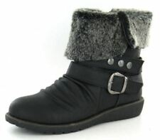 Canvas Upper Ankle Boots Standard Width (D) Shoes for Women