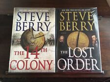 THE 14th COLONY #11 & LOST ORDER #12 ,Steve Berry, SIGNED,1st printings  HCDJ
